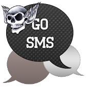 GO SMS - Skull Wings