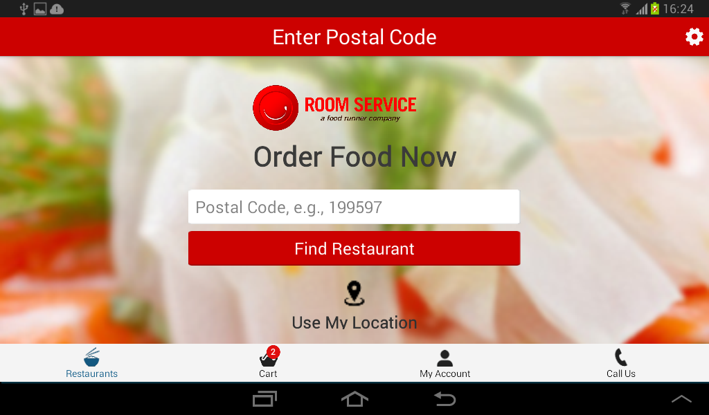 Room Service - Food Delivery - screenshot