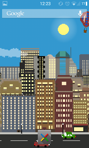 Pixel Cityscape Live Wallpaper