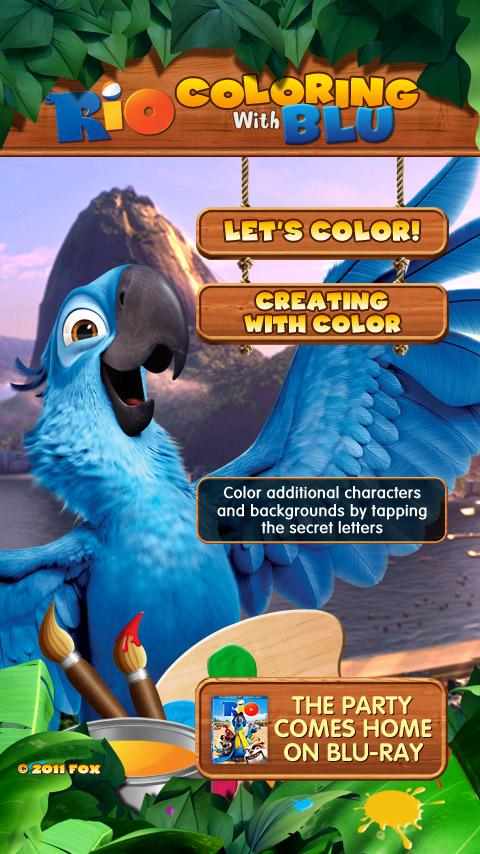Rio: Coloring with Blu - screenshot