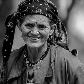 Himachali woman by Deepak Goswami - People Portraits of Women ( woman, indian, himachal )