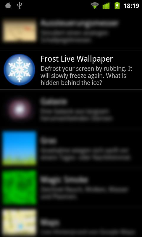 Frost Live Wallpaper HD FREE - screenshot