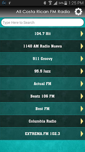 All Costa Rican FM Radio