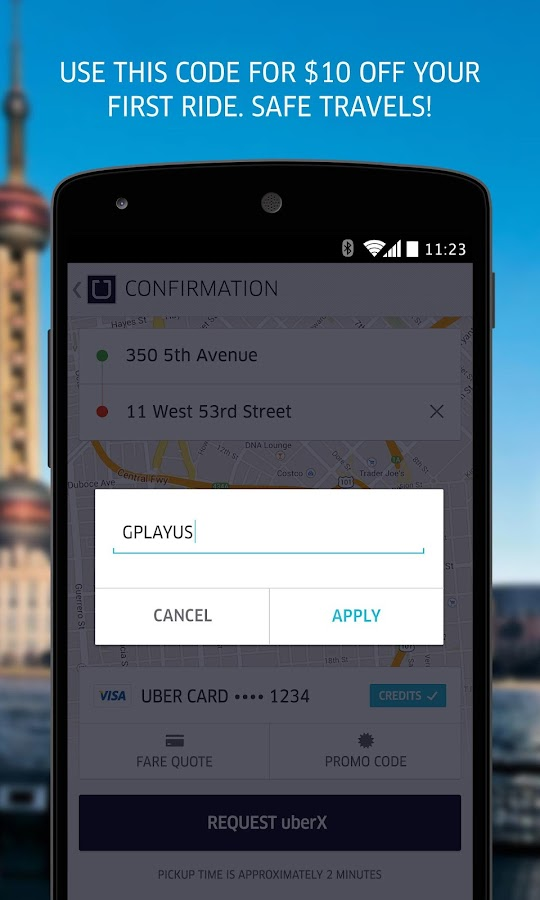 Uber- screenshot