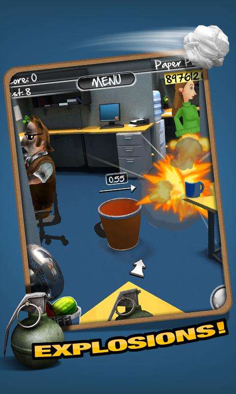 Paper Toss 2.0 - screenshot