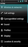 Screenshot of Crystal Theme for CM7