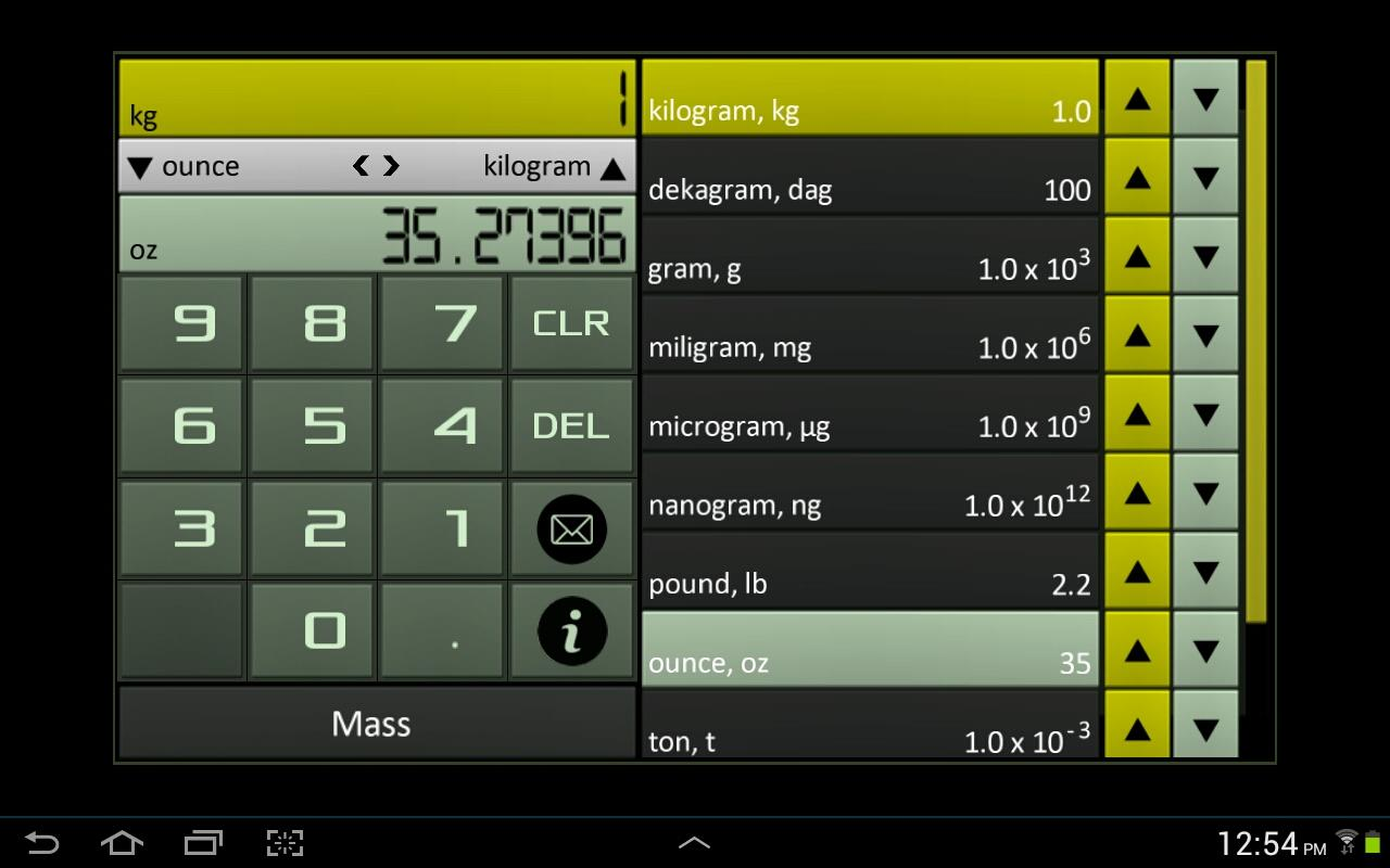 Unit Converter-Chemistry Tools- screenshot