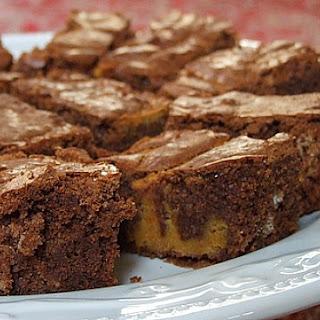 Chocolate- Pumpkin Brownies.