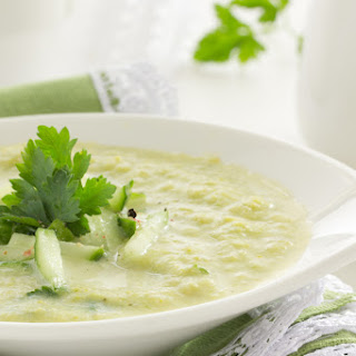 Cauliflower Soup Recipe With Roasted Garlic Oil.