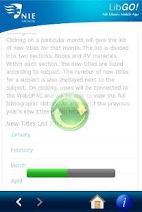 NIE Library - LibGO!- screenshot thumbnail