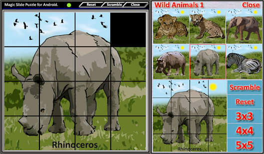 Magic Slide Puzzle W.Animals 1 Screenshot 6
