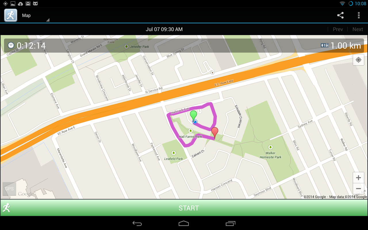 JogTracker - screenshot
