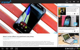 Screenshot of Engadget