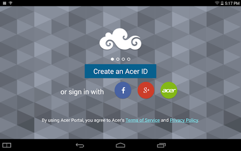 Acer Portal- screenshot thumbnail