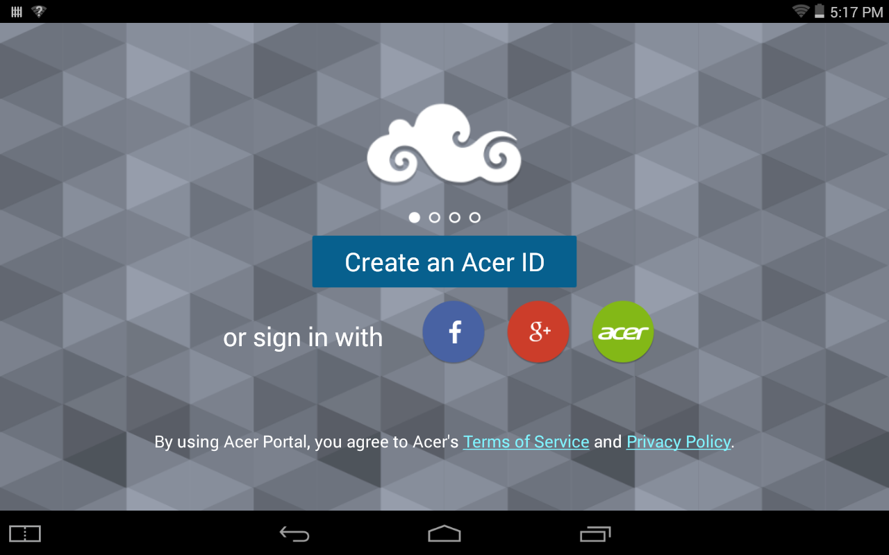Acer Portal - screenshot
