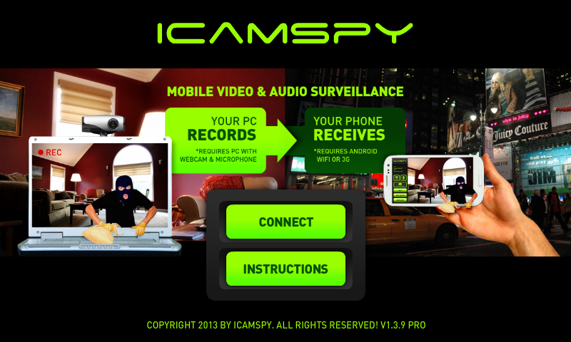 Mobile Video Surveillance - screenshot