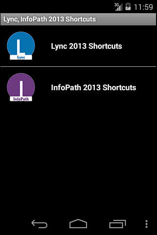 Free Lync InfoPath shortcuts