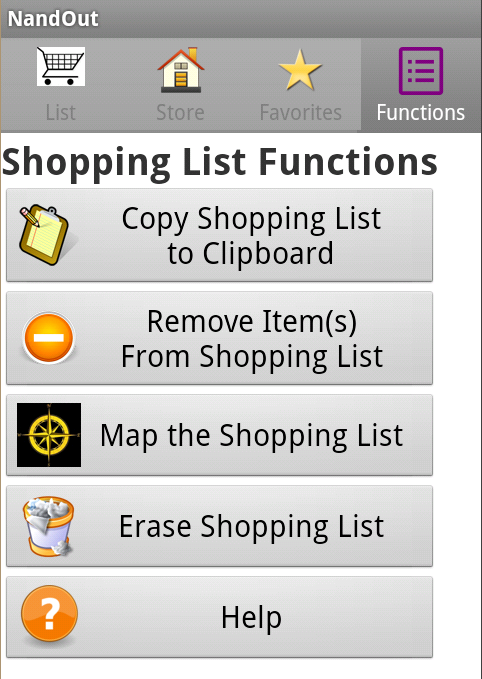 NandOut: Grocery List by Aisle- screenshot
