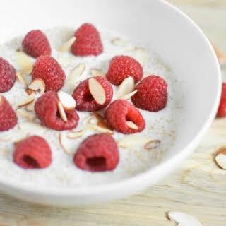 Raspberry Vanilla Almond Breakfast Quinoa.