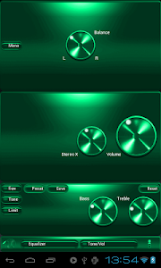 Poweramp skin SPEARMINT METAL v2.03