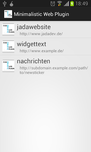 Minimalistic Web Plugin