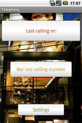 Barring Phone Numbers - screenshot