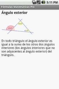 Fórmulas Matemáticas - screenshot thumbnail