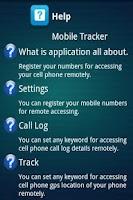 Screenshot of Mobile Tracker