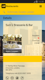 2014 AA Restaurant Guide - screenshot thumbnail