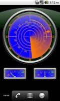 Screenshot of Radar Clock Live Wallpaper