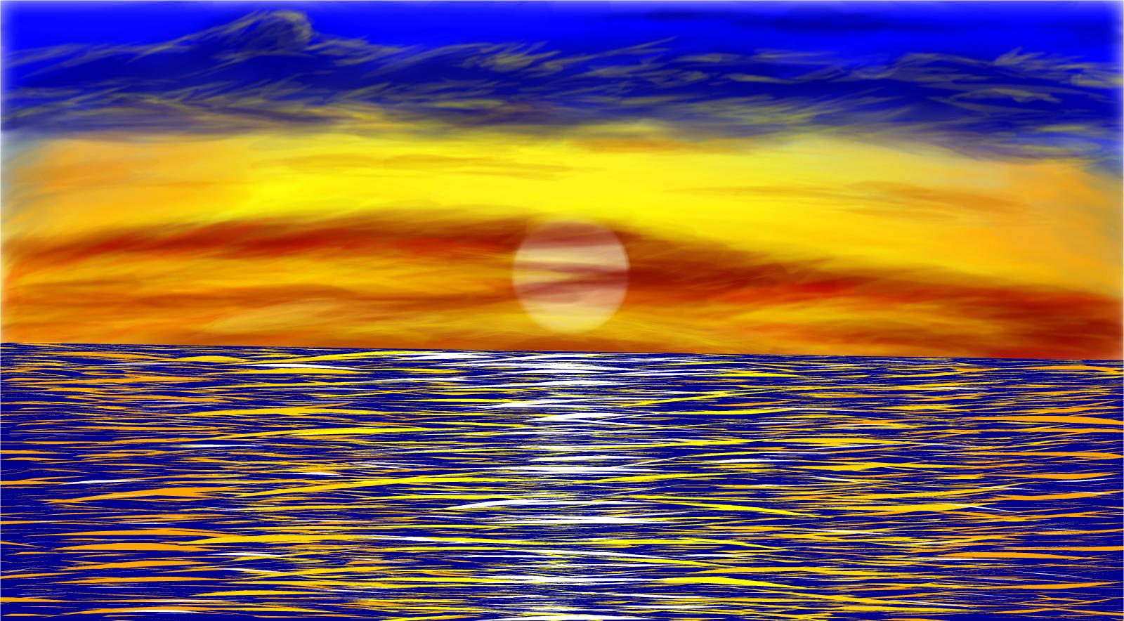 ocean sunset drawings sketchport