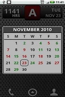 FD Shift Calendar Widget - screenshot thumbnail