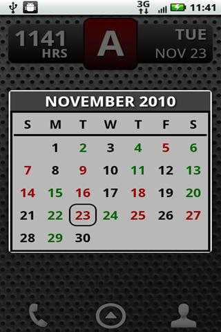 FD Shift Calendar Widget - screenshot