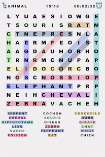Word Search: French- screenshot thumbnail