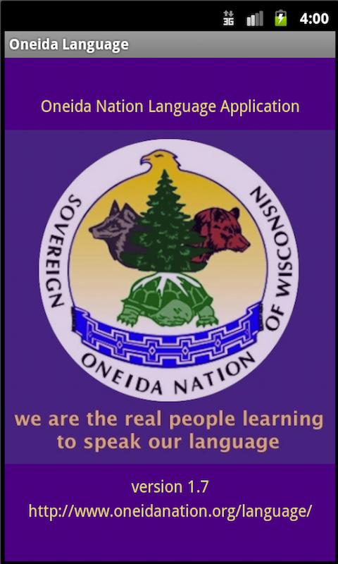 Oneida Language: Wisconsin screenshot #1
