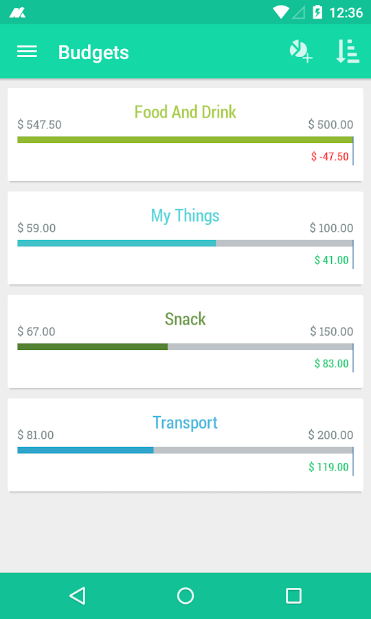 Monas - Expense Manager- screenshot