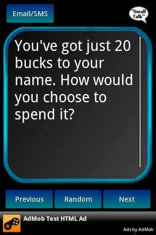 Conversation Starters - screenshot