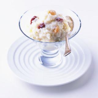 Dried Cherry and Raisin Rice Pudding