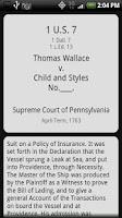 Screenshot of US Supreme Court Cases