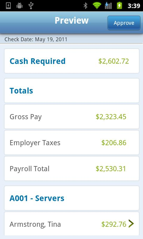 Payroll – RUN Powered by ADP - screenshot