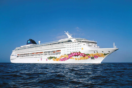 Norwegian-Sky-at-sea-2 - Norwegian Sky offers 3- and 4-night cruises to the Bahamas and Cuba.