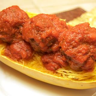 Spaghetti Squash & Meatballs.