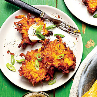 Crispy Sweet Potato-Green Onion Cakes