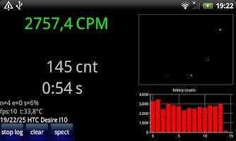 Screenshot of Radioactivity Counter Lite