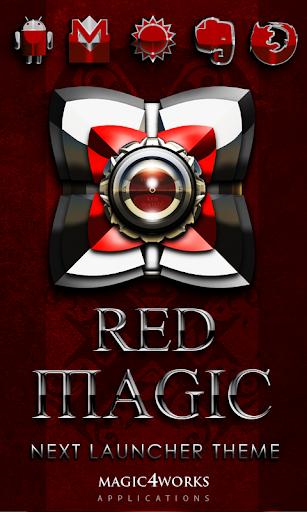 Next Launcher Theme Red Magic