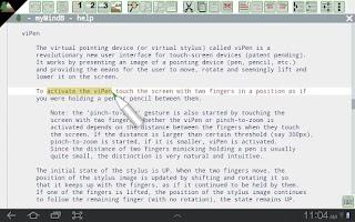 Screenshot of myMindB Data Organizer