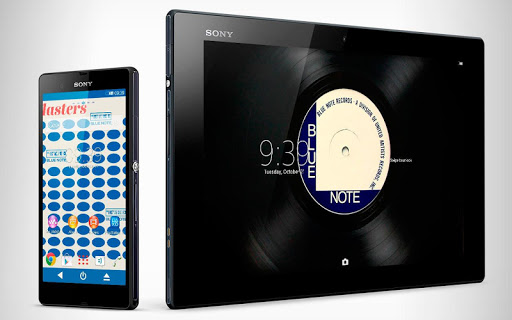 XPERIA™ Blue Note Vinyl Theme