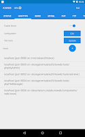 Screenshot of KSWEB: server + PHP + MySQL