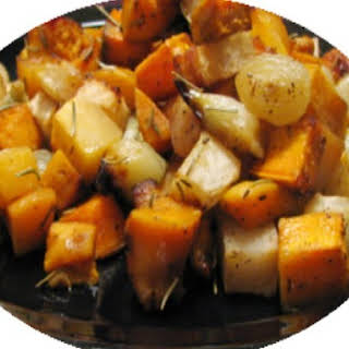Roasted Root Vegetables and Quince.