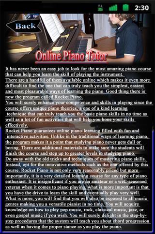 Online Piano Tutor